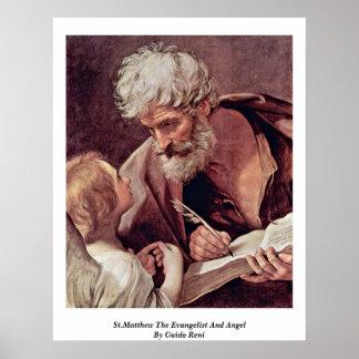 St Matthew el evangelista y el ángel de Guido Reni Posters