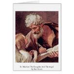 St Matthew el evangelista y el ángel Felicitacion