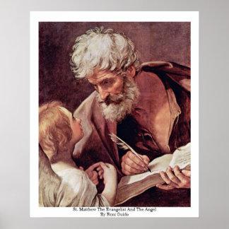St Matthew el evangelista y el ángel Póster