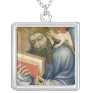 St. Matthew, from the chapel of Karlstejn Silver Plated Necklace