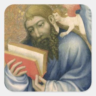 St. Matthew, from the chapel of Karlstejn Square Sticker