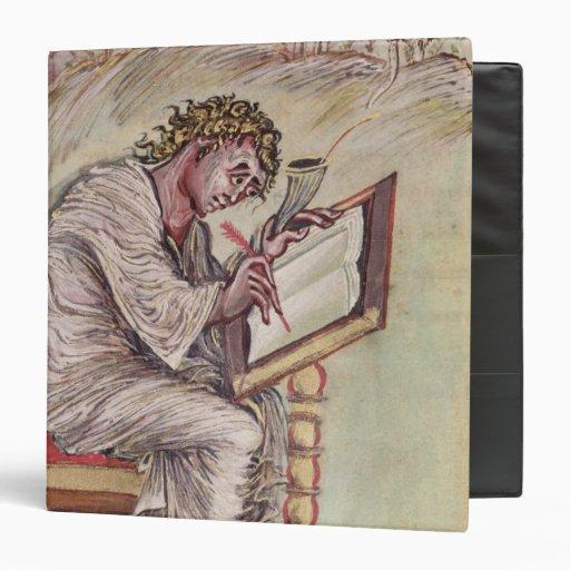 St. Matthew, from the Ebbo Gospels 3 Ring Binders