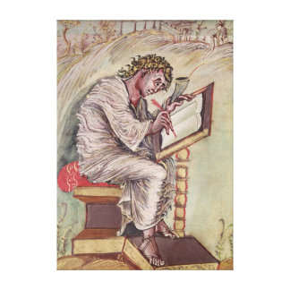 St. Matthew, from the Ebbo Gospels Canvas Print