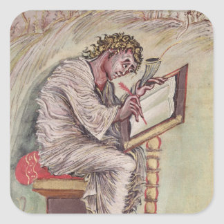 St. Matthew, from the Ebbo Gospels Square Stickers