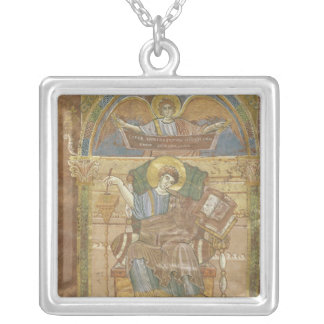 St. Matthew, from the Gospel of St. Riquier Square Pendant Necklace