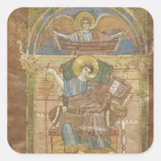 St. Matthew, from the Gospel of St. Riquier Sticker
