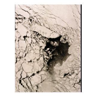 St. Matthew Island Satellite image, Bering Sea Postcard