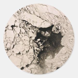 St. Matthew Island Satellite image, Bering Sea Round Stickers