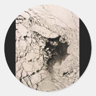St. Matthew Island Satellite image, Bering Sea Round Sticker