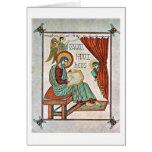 St Matthew por el amo del libro de Lindisfarne Felicitacion