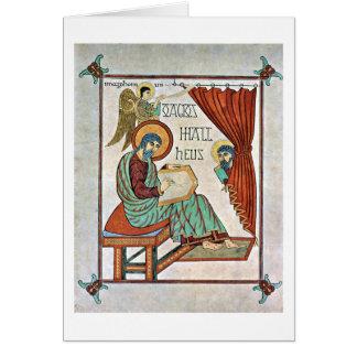 St Matthew por el amo del libro de Lindisfarne Tarjeta De Felicitación