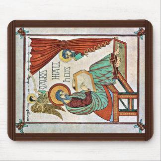 St Matthew por el libro del DES de Meister de Lind Alfombrillas De Ratones