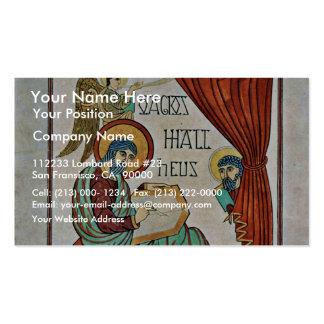 St Matthew por el libro del DES de Meister de Lind Tarjetas De Visita