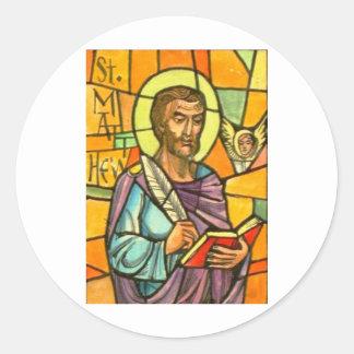 St. Matthew Round Sticker