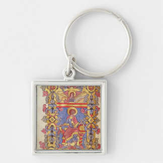 St. Matthew Silver-Colored Square Keychain