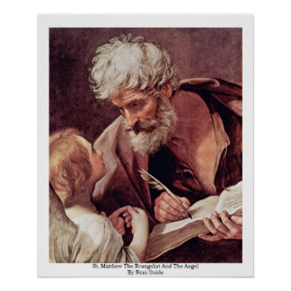 St. Matthew The Evangelist And The Angel Posters