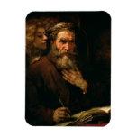 St Matthew y el ángel, 1655-60 (aceite en lona) Imanes