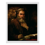 St Matthew y el ángel, 1655-60 (aceite en lona) Impresiones