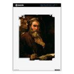 St Matthew y el ángel, 1655-60 (aceite en lona) iPad 3 Pegatina Skin