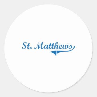 St. Matthews Kentucky Classic Design Round Stickers