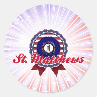 St. Matthews, KY Round Stickers