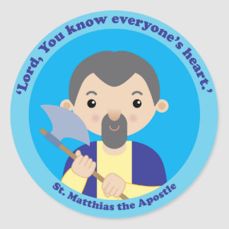St. Matthias the Apostle Classic Round Sticker