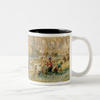 St. Mawes, Cornwall, c.1823 (w/c on paper) Two-Tone Coffee Mug