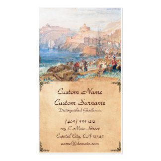 St. Mawes, Cornwall Joseph Mallord William Turner Double-Sided Standard Business Cards (Pack Of 100)