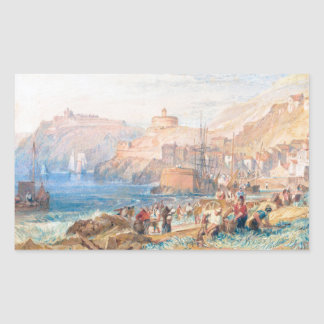 St. Mawes, Cornwall Joseph Mallord William Turner Rectangular Sticker