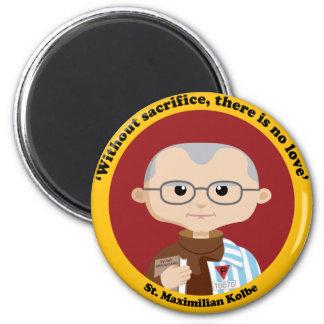 St. Maximilian Kolbe 2 Inch Round Magnet