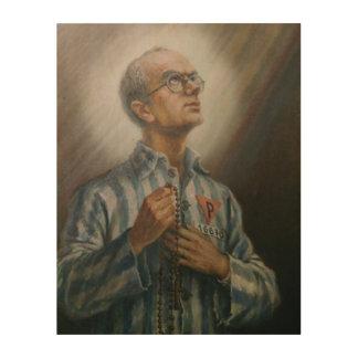 St Maximillian Kolbe, The Saint from Auschwitz, Wood Wall Art