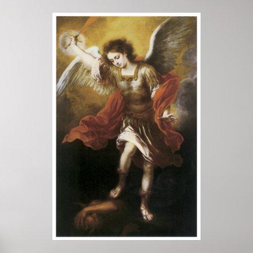 St. Michael, 1665-66 Bartolome Esteban Murillo Poster