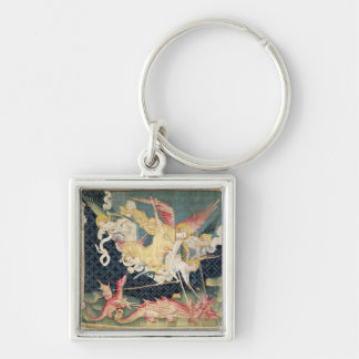 St. Michael and his angels fighting the dragon Keychain
