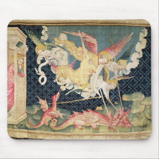 St. Michael and his angels fighting the dragon Mouse Pad