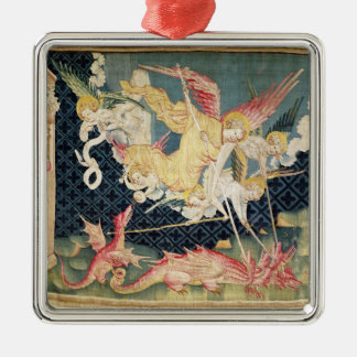 St. Michael and his angels fighting the dragon Christmas Ornaments
