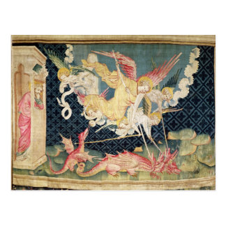 St. Michael and his angels fighting the dragon Postcard