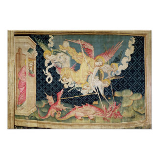 St Michael and his angels fighting the dragon Poster