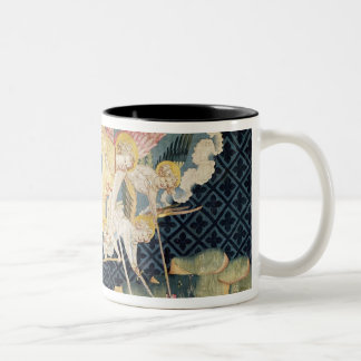 St. Michael and his angels fighting the dragon Two-Tone Coffee Mug