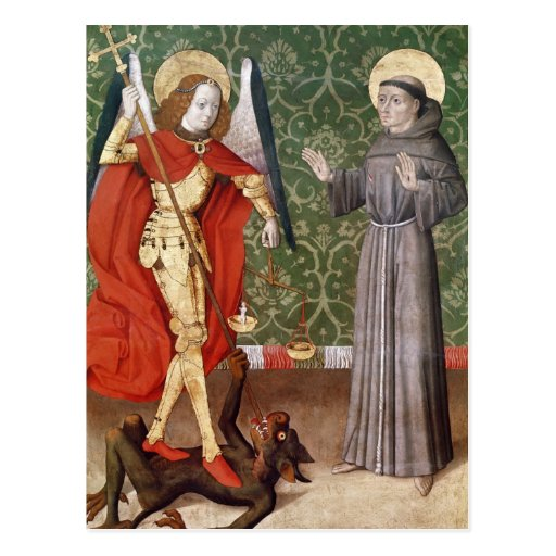 St. Michael and St. Francis of Assisi, c.1480 Post Cards