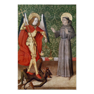 St. Michael and St. Francis of Assisi, c.1480 Poster