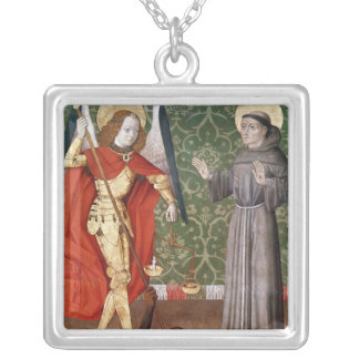 St. Michael and St. Francis of Assisi, c.1480 Silver Plated Necklace