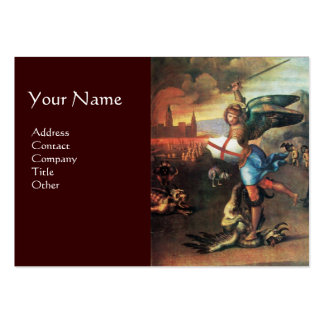 St Michael and the Dragon ,brown Large Business Cards (Pack Of 100)