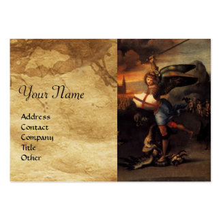 St Michael and the Dragon Large Business Cards (Pack Of 100)