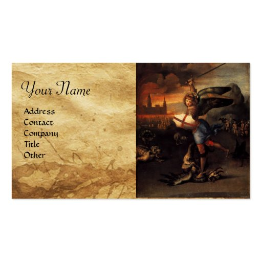 St Michael and the Dragon Business Card Templates