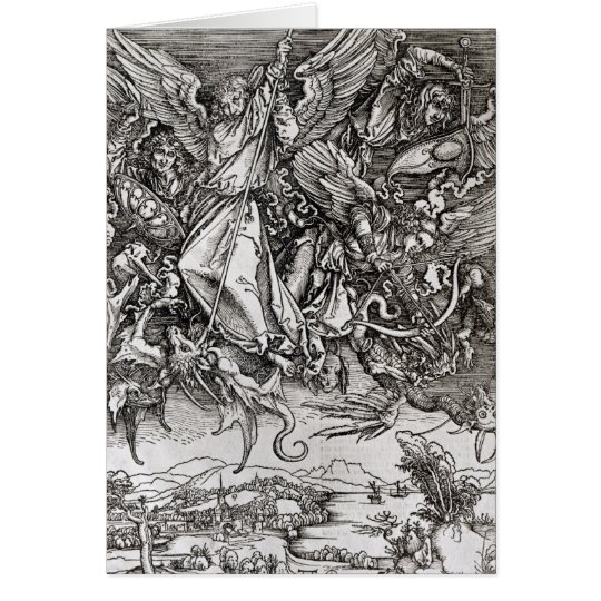 St. Michael and the Dragon, from a Latin Card