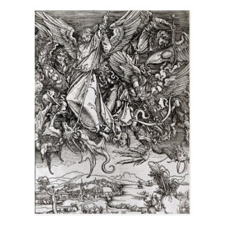 St. Michael and the Dragon, from a Latin Postcard