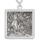 St. Michael and the Dragon, from a Latin Silver Plated Necklace