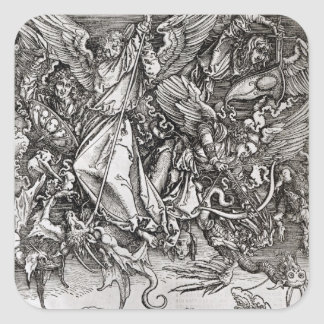 St. Michael and the Dragon, from a Latin Square Sticker