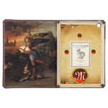 St MICHAEL AND THE DRAGON Monogram Parchment Cover For iPad Air