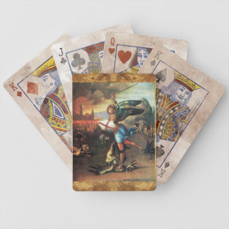 St MICHAEL AND THE DRAGON Bicycle Card Decks